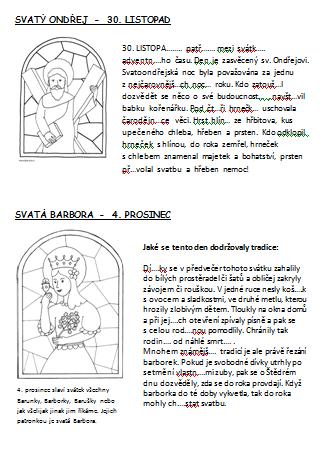 Advent Ondrej Barbora Mikulas