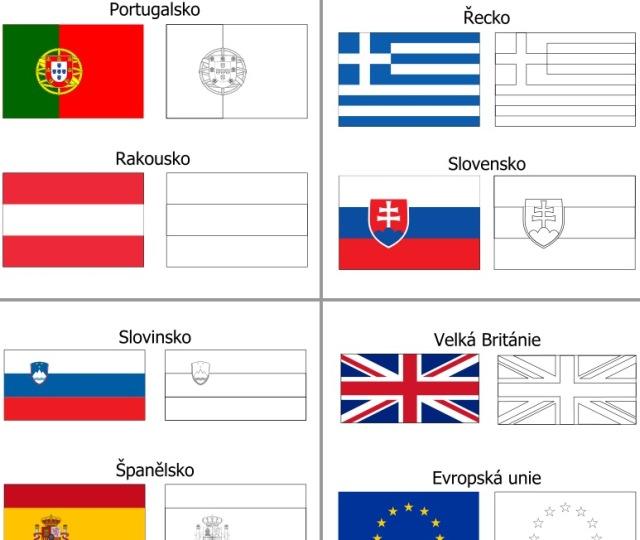 Mapa Evropy Omalovanky